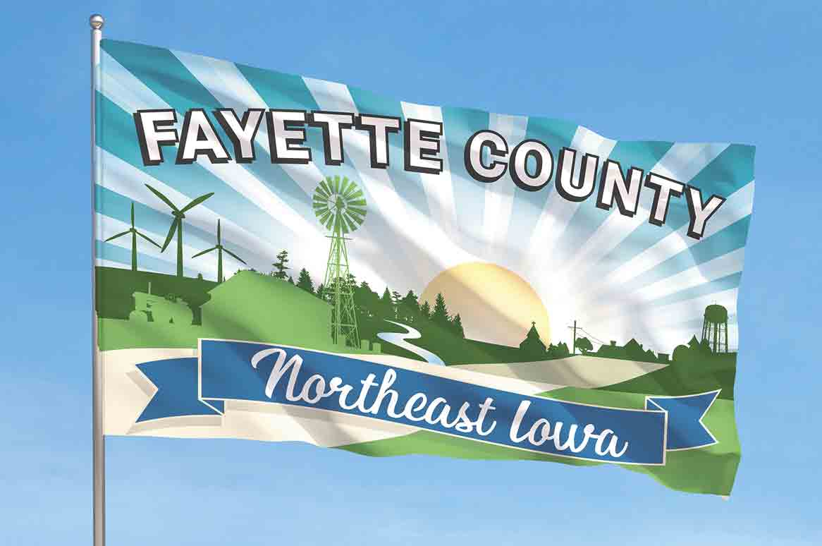 The new Fayette County flag was designed by Morgan Adams of Arlington. (Photo submitted) 	It's official: Fayette County has new flag By Jack Swanson	jswanson@fayettecountynewspapers.com The new Fayette County flag design was approved by the Board of Supervisors...